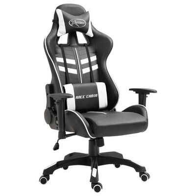 vidaXL Gaming-Stuhl Weiß Kunstleder