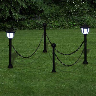 2x LED Lampe Solarleuchte Außenlampe Gartenleuchte Laterne