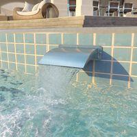 vidaXL Pool-Wasserfall Edelstahl 30x9x26 cm Silbern