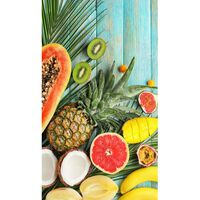 Good Morning Strandtuch FRESH FRUITS 100×180 cm Mehrfarbig