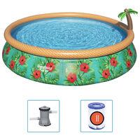 Bestway Fast Set Aufblasbares Pool-Set Paradise Palms 457x84 cm