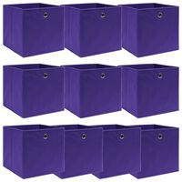 vidaXL Aufbewahrungsboxen 10 Stk. Lila 32×32×32 cm Stoff
