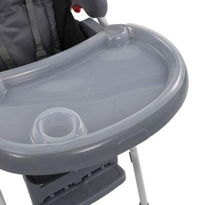 vidaXL Baby-Hochstuhl Grau