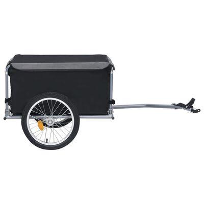 vidaXL Fahrrad-Lastenanhänger Schwarz und Grau 65 kg