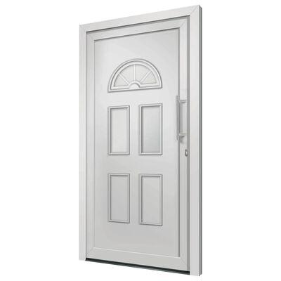 vidaXL Haustür Weiß 98x208 cm