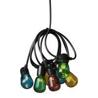 KONSTSMIDE Party-Lichterkette mit 20 Klaren Ovalen Lampen Mehrfarbig
