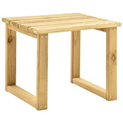 vidaXL Sonnenliege mit Tisch Grün Imprägniertes Kiefernholz