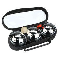 Get & Go Spiel Boule-Set  3 Kugeln Silber COC