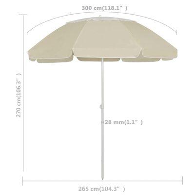 vidaXL Strandschirm Sandgelb 300 cm