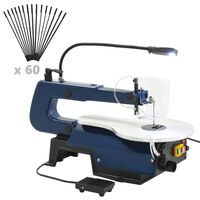 vidaXL Elektrische Dekupiersäge mit Fußpedal und LED-Licht 125 W