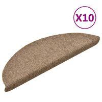 vidaXL Selbstklebende Treppenmatten 10 Stk. Creme 56x17x3cm Nadelvlies