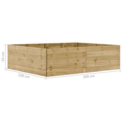 vidaXL Garten-Hochbeet 200×150×54 cm Kiefernholz Imprägniert