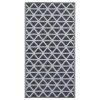 vidaXL Outdoor-Teppich Schwarz 120x180 cm PP