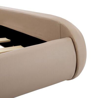 vidaXL Bettgestell Cappuccino-Braun Kunstleder 140x200 cm