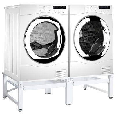 vidaXL Untergestell für Wasch- und Trockenmaschine mit Ausziehablagen