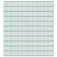 vidaXL 2D Gartenzaun-Elemente 2,008x2,23 m Gesamtlänge 12 m Grün