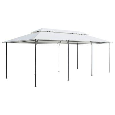 vidaXL Pavillon mit Vorhängen 600x298x270 cm Weiß