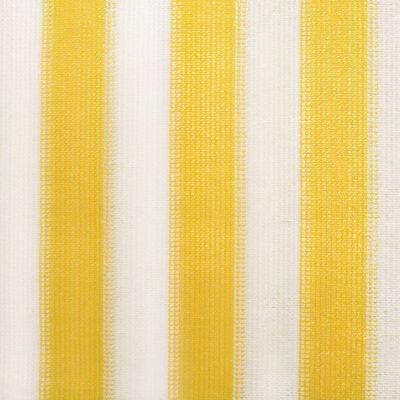 vidaXL Außenrollo 120 x 140 cm Gelb und Weiß Gestreift