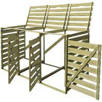 vidaXL Mülltonnenbox für 3 Tonnen 240 L Imprägniertes Holz