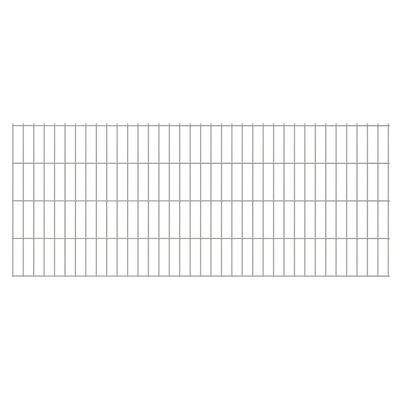 vidaXL 2D Gartenzaun-Element 2,008x0,83 m Silbern