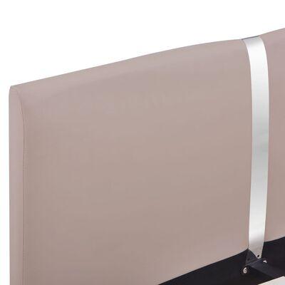 vidaXL Bettgestell Cappuccino-Braun Kunstleder 120x200 cm
