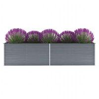 vidaXL Garten-Hochbeet Verzinkter Stahl 320x80x77 cm Grau