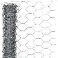 Nature Sechseckgeflecht 1x10 m 25 mm Verzinkter Stahl