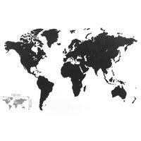 MiMi Innovations Weltkarte-Wanddeko Luxury Puzzle Schwarz 150x90 cm