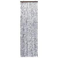 vidaXL Insektenschutz-Vorhang Braun und Beige 120x220 cm Chenille