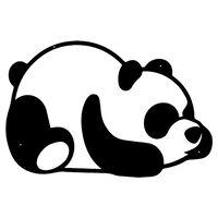 Homemania Wanddekoration Panda 50x35 cm Stahl Schwarz