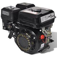 vidaXL Benzinmotor 6,5 PS 4,8 kW Schwarz