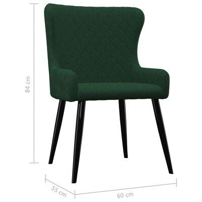 vidaXL Esszimmerstühle 6 Stk. Grün Samt