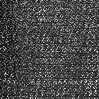vidaXL Sichtschutznetz HDPE 1,5 x 25 m Schwarz