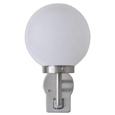 Kugelförmige Edelstahl-Wandlampe mit dem Sensor