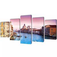 Bilder Dekoration Set Venedig 200 x 100 cm