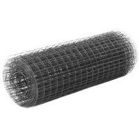 vidaXL Drahtzaun Stahl mit PVC-Beschichtung 25x0,5 m Grau