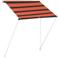 vidaXL Einziehbare Markise 150×150 cm Orange und Braun