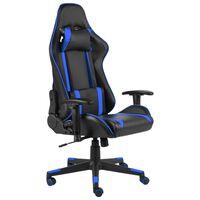vidaXL Gaming-Stuhl Drehbar Blau PVC