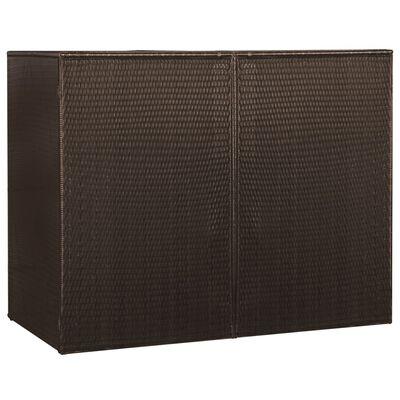 vidaXL Mülltonnenbox für 2 Tonnen Braun 153 x 78 x 120 cm Poly Rattan