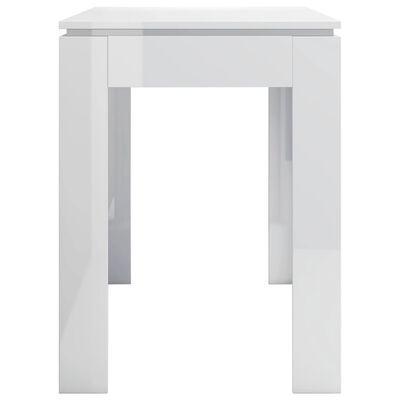 vidaXL Esstisch Hochglanz-Weiß 120 x 60 x 76 cm Spanplatte