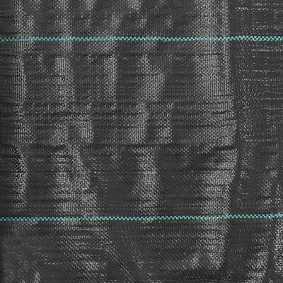 vidaXL Unkraut- und Wurzelschutzfolie PP 1 x 10 m Schwarz
