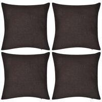 4 braune Kissenbezüge Baumwolle 40 x 40 cm