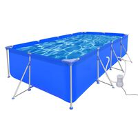 Swimming Pool with Pump Steel 394 x 207 x 80 cm (90530+90562)