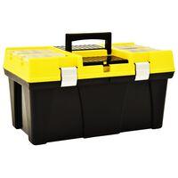 vidaXL Werkzeugkoffer Kunststoff 595 x 337 x 316 mm Gelb