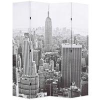 vidaXL Raumteiler klappbar 160 x 170 cm New York bei Tag Schwarz-Weiß