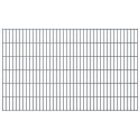 vidaXL 2D Gartenzaun-Elemente 2,008x1,23 m Gesamtlänge 24 m Grau