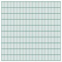 vidaXL 2D Gartenzaun-Elemente 2,008x2,03 m Gesamtlänge 4 m Grün