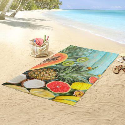 Good Morning Strandtuch FRESH FRUITS 100×180 cm Mehrfarbig