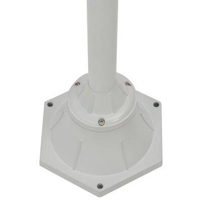 vidaXL Garten-Pollerleuchte E27 220 cm Aluminium 2-Laterne Weiß