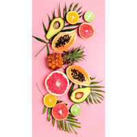 Good Morning Strandtuch PINK FRUITS 75×150 cm Rosa